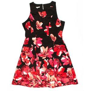 Maggy London Floral Fit & Flare Dress